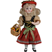 Small All Bisque in Provincial Costume - 3.5 inches