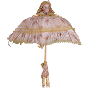 Unusual German Doll Parasol - 22 Inches