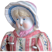 Hertwig Doll with Molded Bonnet-12 Inches