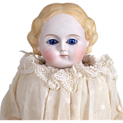 Fine Quality Parian Doll with Glass Eyes-11 Inches