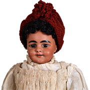 Rare Simon & Halbig 969 Black Smiling Character Child-13 Inches