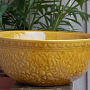 SALE Decorative Haeger Yellow Brown Textured Mixing Bowl