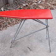SALE Includes Sunny Suzy Iron Very Cute Vintage Red Metal Children's Play Toy Ironing Board