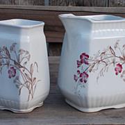 Antique Porcelain Tea Set Made By Wood & Son, England Circa 1891-1907