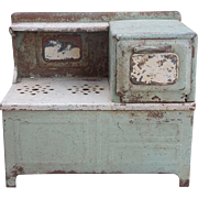 SALE Charming Rustic Painted Metal Kitchen Doll Stove Display