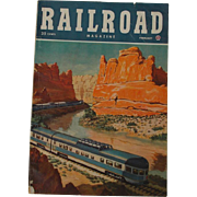 SALE 1948 Vintage RAILROAD Magazine February Volume 45 No. 1