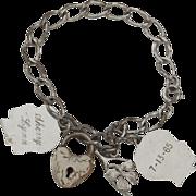 SALE 1950's Classic Vintage Mother's Charm Bracelet