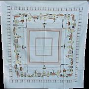 SALE Vintage Kitchen Theme Cotton Tablecloth