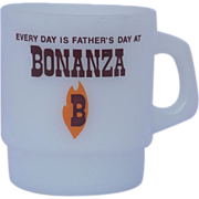 SALE Vintage Fathers Day Bonanza Fire King Coffee Cup Mug