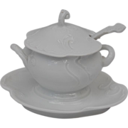 JHR Porcelain Miniature Tureen with Underplate and Ladle