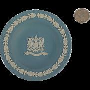 Blue Wedgwood Jasperware Plate City of London Crest