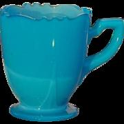 SALE Children's Pressed Blue Glass Cup