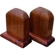 SALE Handsome Solid Wood Bookends