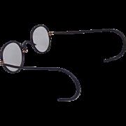 SALE NICE! Windsor Brown Black Celluloid Wrapped Metal Frame Eyeglasses with Flexible Spring .