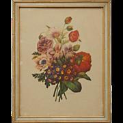 "SALE Vintage 20"" X 16"" Pierre J. Redoute Framed Botanical Offset Lithograph, Print"