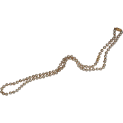 """SALE Vintage Napier 30"""" Knotted Single Strand Faux Pearls"""