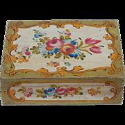 SALE Vintage Italian Hand Painted Wooden Keepsake Box