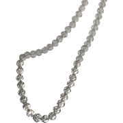 """SALE Art Deco Beehive Cut Opera Length 40"""" Faceted Crystal Bead Necklace"""