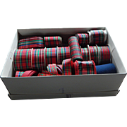 Yards and Yards of Quality Vintage Plaid Fabric Ribbon