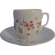 REDUCED Childs Cup and Saucer with Pink Rose Decoration