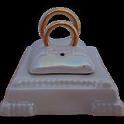 Lusterware Wedding Ring Salt and Pepper Set