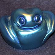 Orient & Flume Art Glass Frog Paperweight