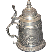 Pewter Zinn German Beer Stein