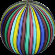 Rainbow Venetian Glass  Paperweight