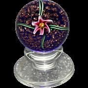 Wonderful Charles Kaziun Pedestal Lily Paperweight