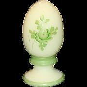 Fenton Hand Painted Custard Egg