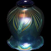 SALE PENDING Signed Art Glass Phoenix Studio Lamp Shade