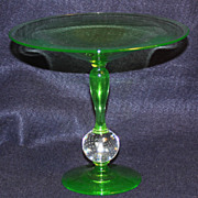 Pairpoint Green Vaseline Compote