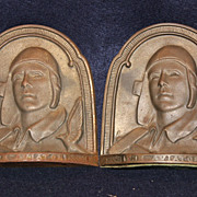 "SALE PENDING Charles Lindbergh ""The Aviator"" Bookends"