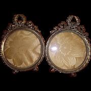 SALE Pair Antique French Gilt Bronze Frames 1860-1880