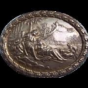 Vintage Gilt Bronze Trinket Casket
