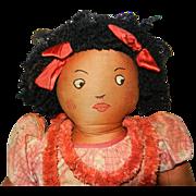 """Vintage 24"""" Hawaiian Handmade Cloth Doll"""