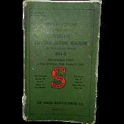 1936 Singer 201-2 Original Instruction Booklet
