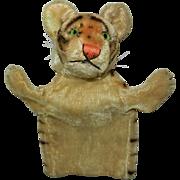 """Handsome 9"""" Steiff Tiger Hand Puppet"""