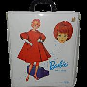 1963 Mattel Barbie White Shiny Vinyl Doll Case