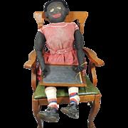 SOLD HUGE Antique 4 Foot Life Size Ca 1880-1900 Black AAFA Cloth Rag Doll All Original