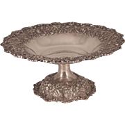 Footed Compote Bowl S. Kirk & Son Inc Sterling Repousse