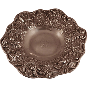 Footed Bowl.  S. Kirk & Son Co Sterling Repousse