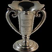 Lady's Golf Trophy Shreve & Co Sterling Silver