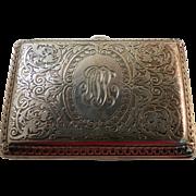 Cigarette or Card Case American Sterling Circa 1910