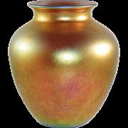 Steuben Art Glass Gold Aurene Vase