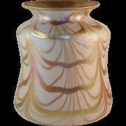 Steuben Art Glass Vase Gold Aurene over Calcite