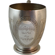 Whiting Victorian Sterling Christening Cup 1871