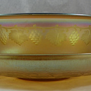 Tiffany Gold Favrile Bowl and Underplate