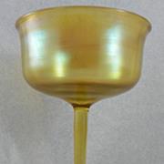 Wine Glass.  Tiffany Gold Favrile