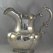 American Coin Silver Water Pitcher
